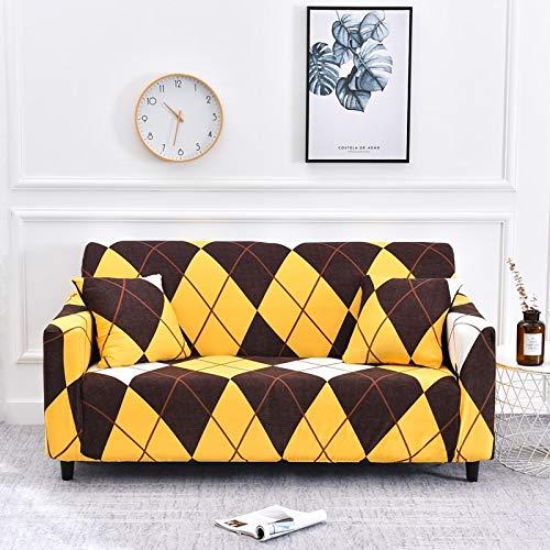 Fundas de sofá elásticas Protector de Muebles Poliéster Loveseat Funda de sofá Funda Armchair para Sala de Estar A12 3 plazas