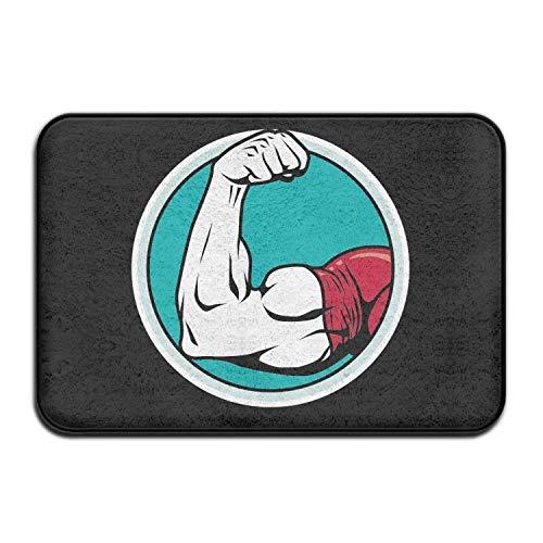 tyui7 Muskel Fitness Fussmatte Innen Außen - rutschfest und waschbar – Schmutzfangmatte - Türmatte - Fussabstreifer 50x80 cm