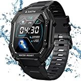 KOSPET Rugged Smart Watch for Men, 3ATM Waterproof Fitness Tracker with Blood Pressure/Blood Oxygen Monitor Activity Tracker, 1.69