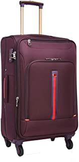 Travel Cabin Approved Hand Luggage Suitcase with 4 Wheels, Business Laptop Roller Case Briefcase 20-inch (Color : Purple, Size : 20-inch)