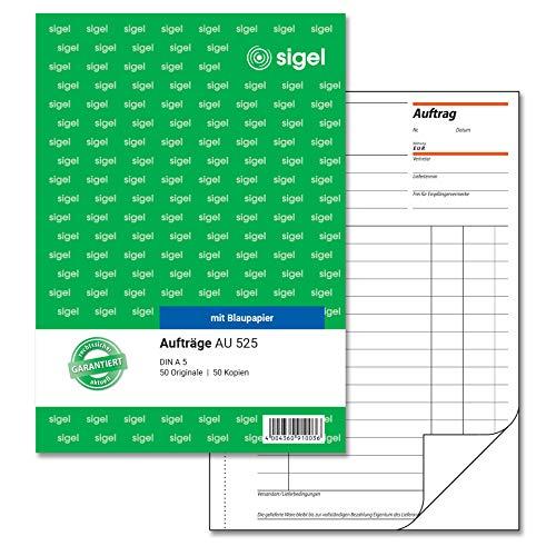 SIGEL AU525 Auftragsbuch A5, 2x50 Blatt
