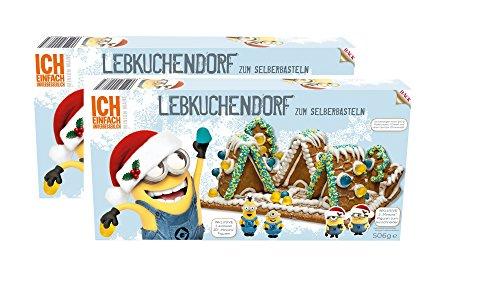 Minion Lebkuchenhaus (2 er Pack) Bastelsatz mit zwei Minion 2D Figuren 268