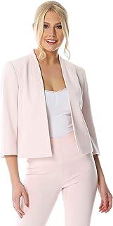 Roman Originals Women Bolero Suit Jacket - Ladies Shrug Tailored Rochette Work Formal Wedding Mother of The Bride Crepe Cr...
