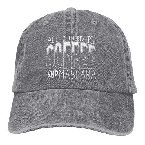 Presock All I Need is Coffee and Mascara Cowboy Cap Unisex Trucker Baseball Hats