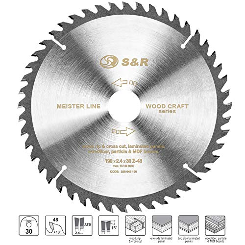S&R Kreissägeblatt 190 x 30 x 2,4mm 48T /Wood Craft/ Holz Kraft in Profiqualität - 5