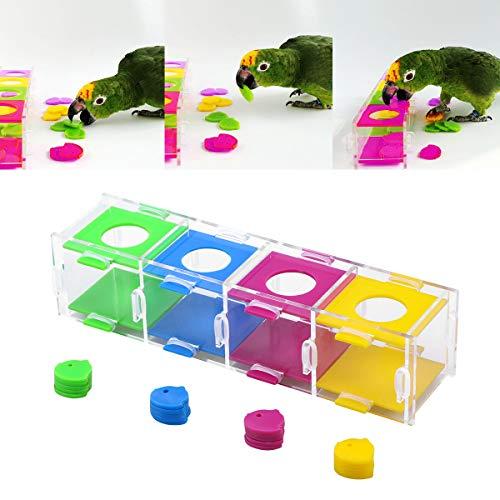 POPETPOP Vogel-Intelligenz-Spielzeug-Übungsspielzeug-Papagei, der Spielzeug für den Papageienara spielt Käfig-Spielzeug kaut