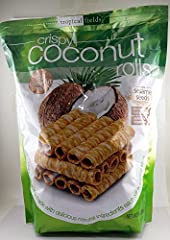 Tropical Fields Crispy Coconut Rolls Made With Delicious Natural Ingredients Light Crisp Country of origin is United States