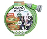 Idroeasy 30 Metros - Manguera Extensible Magic Soft de 5/8' (15 mm) Manguera Jardín de Riego Anti Torsión, Canal de Riego de Jardín de Agua Anti Nudo
