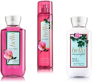 Bath & Body Works ~ Signature Collection ~ Hello Beautiful~ Shower Gel ~ Fine Fragrance Mist & Body Lotion ~ Body Set
