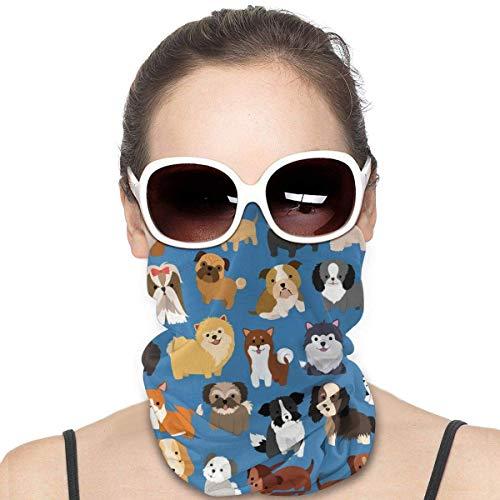 XCNGG - Fascia da collo con motivo animale, per donne e uomini, mezza multifunzionale, per la polvere, per sport all'aria aperta, colore: Nero