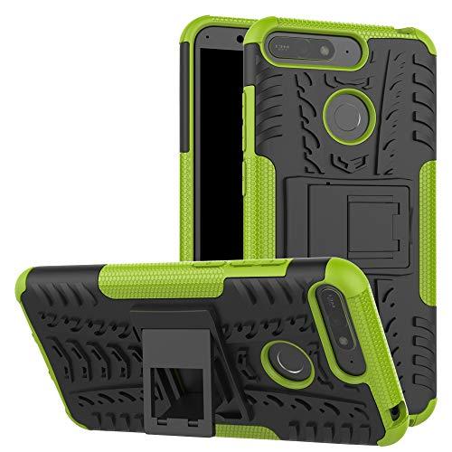 betterfon | Outdoor Handy Tasche Hybrid Case Schutz Hülle Panzer TPU Silikon Hard Cover Bumper für Huawei Y6 (2018) / Honor 7A Grün