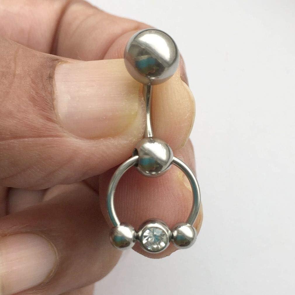 Gem Ball Horseshoe VCH Heavy Ball Piercing Barbell for Extra Pressure.