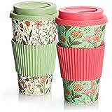 com-four® 2X Taza de café para Llevar de plástico - Taza de café para Llevar - café para Llevar...