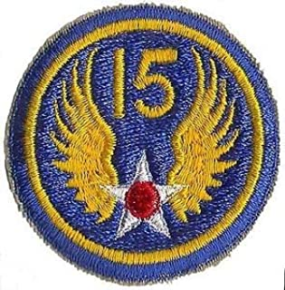US Army 15TH AIR Force Army AIR Corps WWII Patch (Reproduction) by HighQ Store