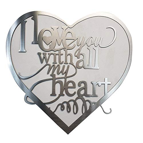 Metal Art of Wisconsin I Love You with All My Heart Metal Art (2-Foot)