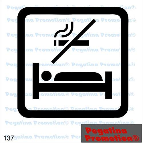 Piktogramm Typ 137 Icon Symbol Zeichen Nichtraucher Zimmer Rauchverbot Aufkleber Sticker ca.15cm von Pegatina Promotion® Aufkleber mit Verklebehilfe von Pegatina Promotion® ohne Hintergrund geplottet