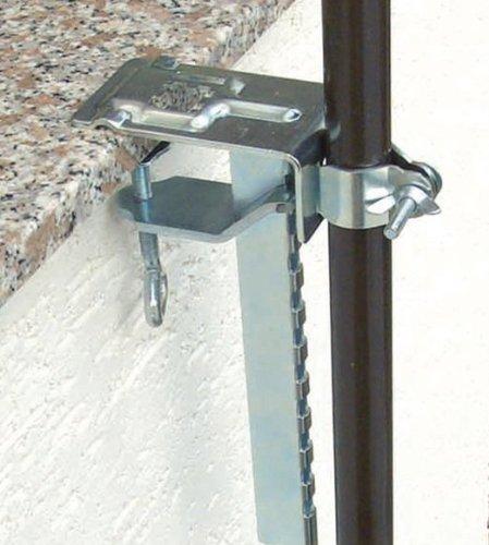 Tafel- en balkonklem voor parasol met 30 mm.