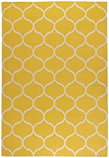 IKEA STOCKHOLM - Rug, flatwoven, net pattern, yellow - 170x240 cm