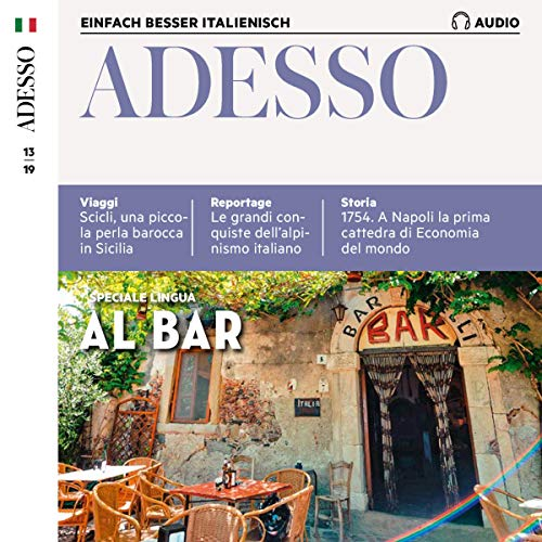 Couverture de ADESSO Audio - Al bar. 13/2019