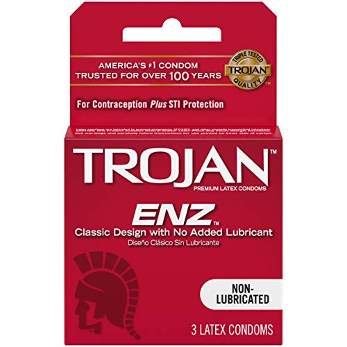 Trojan Non-Lubricated Premium Latex Condoms 3 ct (Pack of 6)