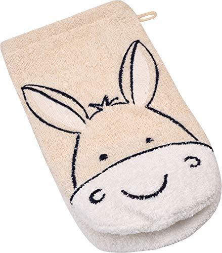 WÖRNER Le gant de toilette âne gant de toilette bébé, naturel
