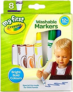 Crayola My First Washable Markers, Pack of 8