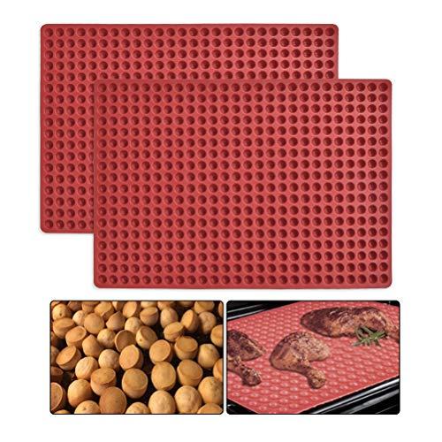 WOWOSS 1 Stück Silikon Backmatte - 1cm Halbkugel Silikonmatte mit Noppen - 468er Backform für Hundekekse & Hundeleckerlies, Backpapier - Backunterlage - Pralinenform