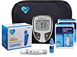 Contour NEXT EZ Diabetes Testing Kit | Contour NEXT EZ Blood Glucose Meter, 100 Contour NEXT Blood Glucose Test Strips, 100 O'WELL Lancets, O'WELL Lancing Device, LogBook, User Manual & Carry Case