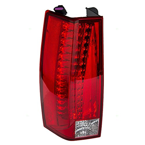 Brock Replacement Driver Tail Light Compatible with 2007-2014 Escalade & Escalade ESV 22884387