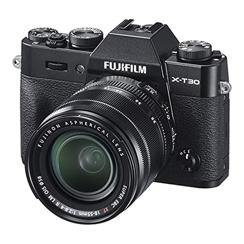 Fujifilm X-T30 Mirrorless Digital Camera w/XF18-55mm Kit - Black