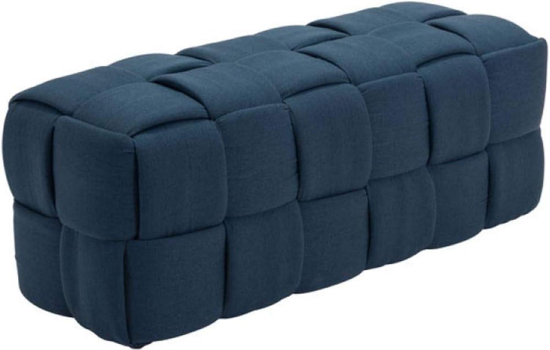 Zuo Checks Bench, Navy bluee