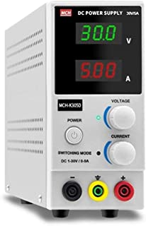 Size : 110V Electronic measuring equipment 0-30V 3A Adjustable DC Regulated Power Supply Four-digit Display Linear Regulated Power Supply MCH-303DB