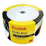 50 Pack KODAK DVD-R Full Face Printable 16X
