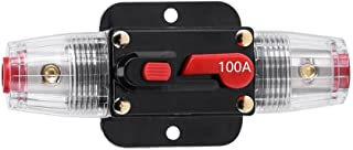 STETION Car Audio 100 Amp Resettable Fuse Circuit Breaker Car Protect for Audio System Fuse 12-24V DC for Car Audio Amps Overload Protection Fuse (100A)