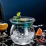 feichang Innovación Split tipo DIY Molecular gastronomía cóctel taza conos redondo juego de vasos Martini vaso Smoothies Container (capacidad: 250 ml y 750 ml) Color: Cocktail Glass Set