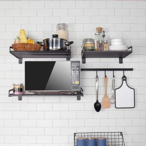 Soporte de aluminio para microondas, apto para horno, microondas, estante de cocina, 40 x 30 cm