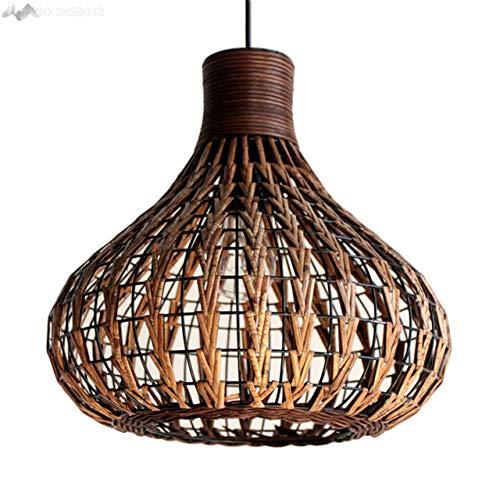 5151BuyWorld landschaplamp, retro, creatief, Aziatische hand, hoogwaardig, van bamboe, rotan lamp, balkon, hanglamp, henneptouw, vintage