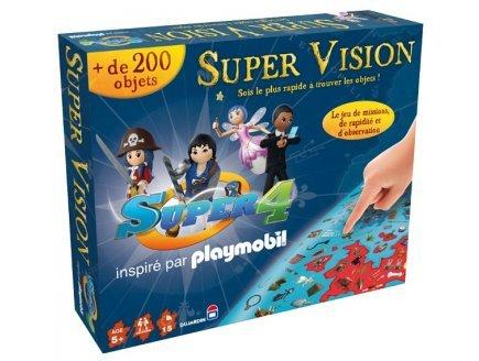 Dujardin - 01145 - Jeu d'action et de réflexe - Super Vision Super 4 playmobil