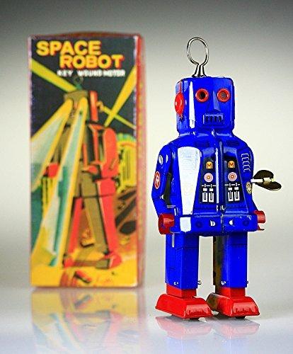 PYXEL STUDIO Ms403 Blu Tin Toy Spazio Robot.It Sparks Yoshiya Sparky Vintage Windup Replica