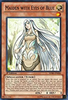 Yu-Gi-Oh! - Maiden with Eyes of Blue (SDBE-EN006) - Structure Deck: Saga of Blue-Eyes White Dragon - Unlimited Edition - Super Rare
