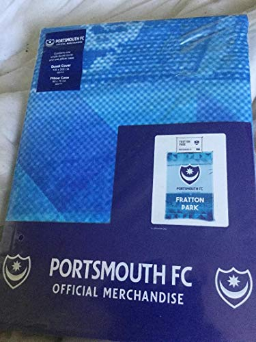 Official PORTSMOUTH FC Single Duvet cover with single pillow case cover