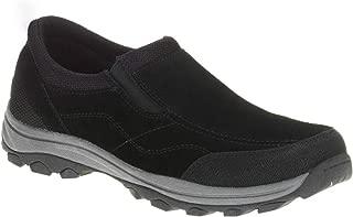 Wrangler Men's Gan Genuine Leather Black Memory Foam Slip-on Shoes