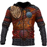Sudadera Capucha Viking Armor Tattoo para Hombre, BrúJula...