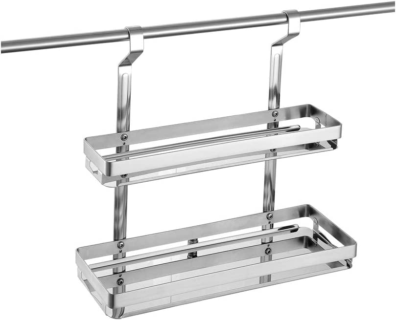 Marie Wall Mounted Max 40% OFF 2-Tier Kitchen 600m Rack Factory outlet Spice Organizer with