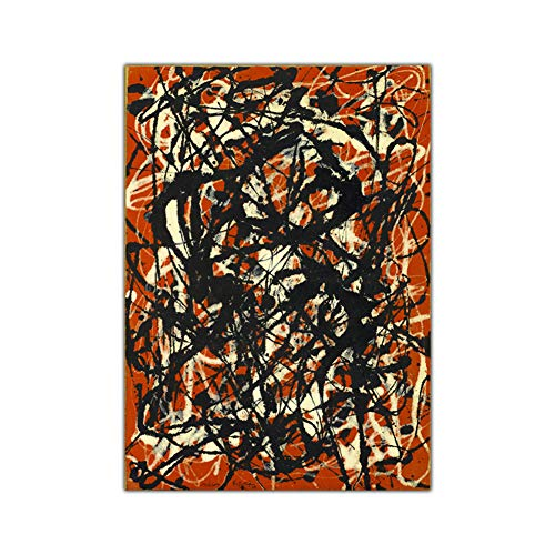 ASLKUYT Citon Canvas Painting Jackson Pollock《Free Form》Artwork Poster Picture Modern Wall Art Decor Home Living Room Decoration-50x80cm No Frame