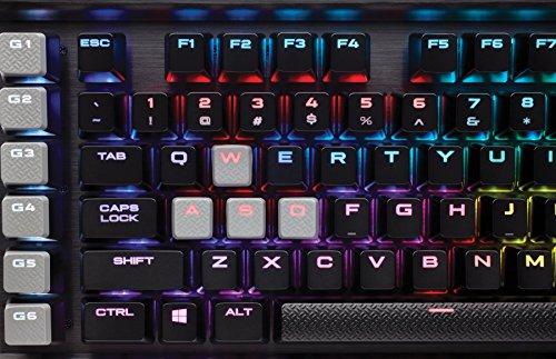 Corsair K95 RGB Platinum Tastiera Meccanica Gaming, Cherry MX Speed, Retroilluminato RGB, Italiano QWERTY, Nero