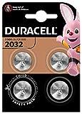 Duracell DL2032/CR2032 - Pilas especiales de botón de litio 2032 de 3V, paquete de 4 unidades, diseñada para uso en llaves con sensor magnético, básculas, elementos vestibles y dispositivos médicos