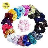 Velvet Scrunchies, elastisches Haarband, Haargummis für Frauen oder Accessoires für die Haare von Mädchen (20 Farben)
