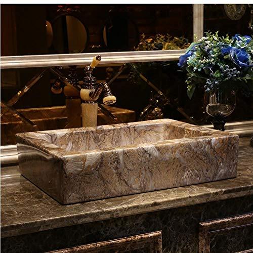 ykxykw kunstmarmer kunst basin zinks opzetwastafel wastafel van porselein wastafel rechthoekig keramiek