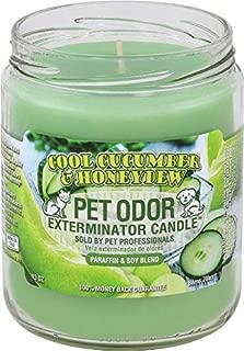 Pet Odor Exterminator Candle 13oz jar, Cool Cucumber & Honeydew